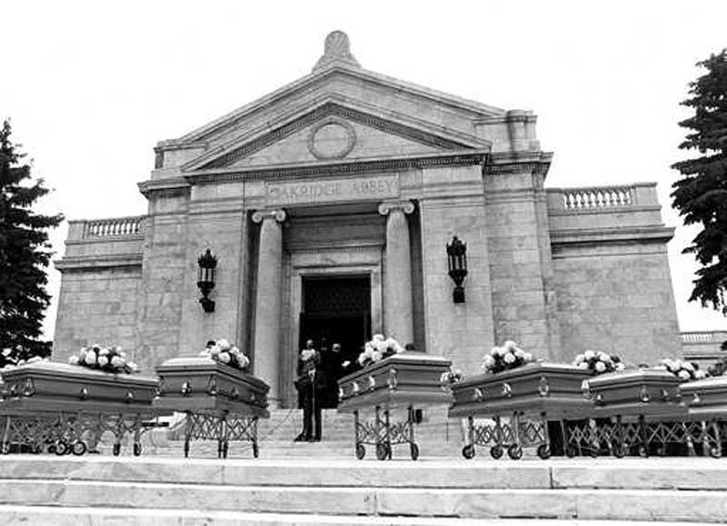 El funeral de las víctimas