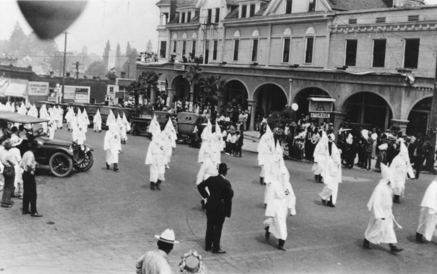 KKK march in Ashland 1920s