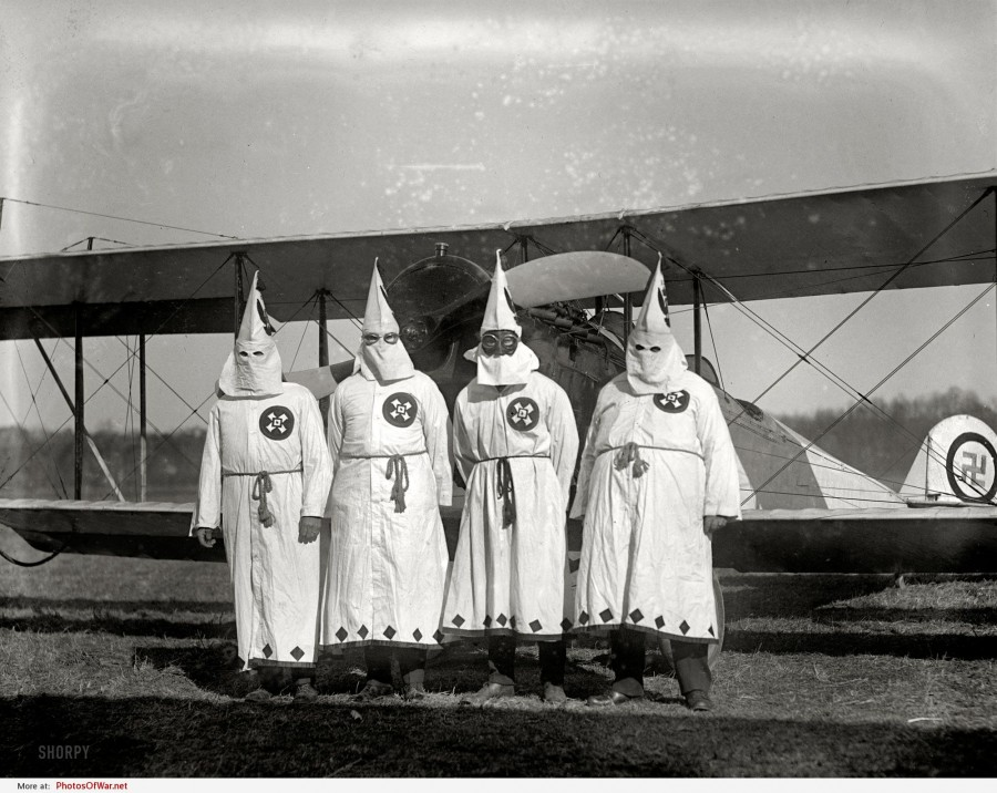 kkk-air-march-18-1922-members-of-the-ku-klux-klan-about-to-take-off-with-the- KKK Air...March 18, 1922