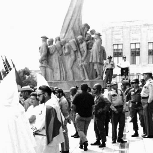 Ку-клукс-клан митинг на Капитолий штата Луизиана шаги в Батон-Руж в 1960 году.