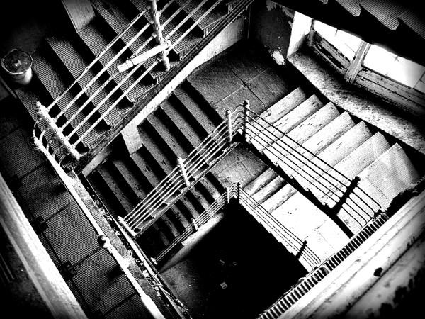 Лестница прифабричной казармы