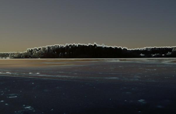 Коверильское озеро зимой