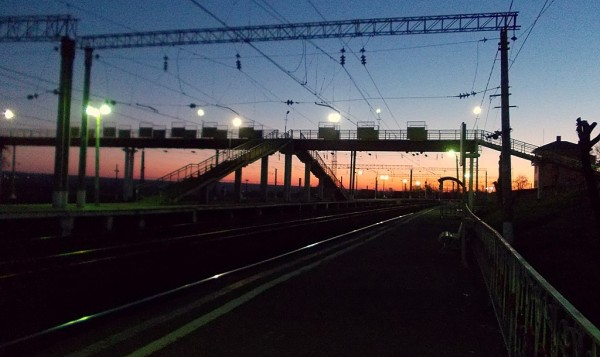 Станция КАШИРА утром