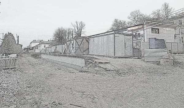Станция //Царское Село// на капремонте