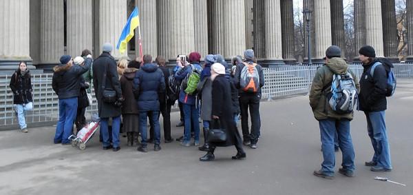 Пикет перед Казанским собором