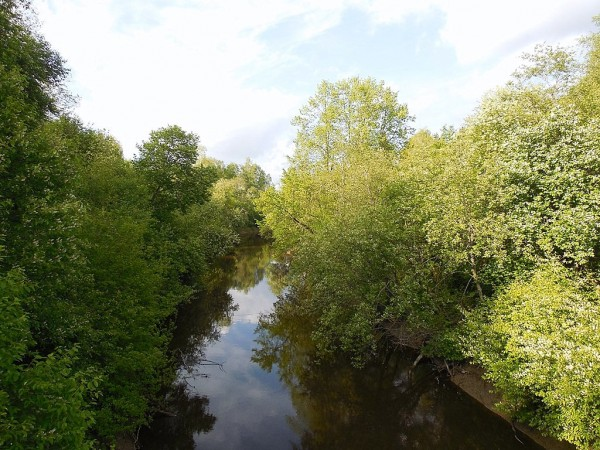 Река Сестра. Налево -- Старая Финляндия, направо -- Ингерманландия.