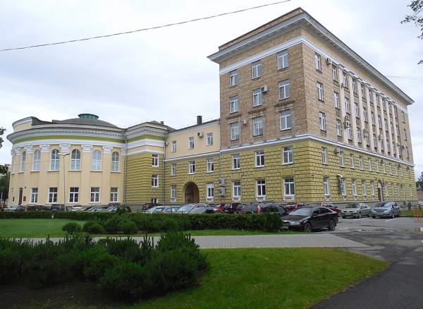 Вид с Чудинцевой (Льва Толстого) улицы.