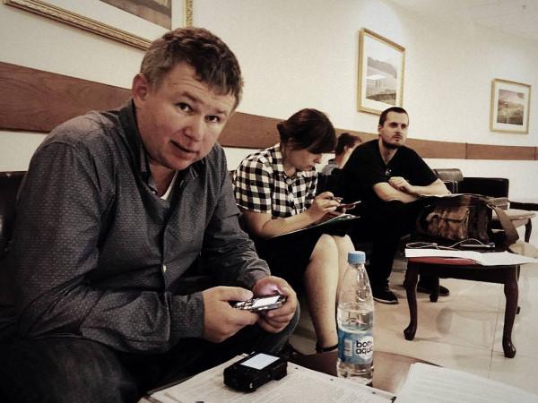 Слева направо: Динар Идрисов, Ирина Яценко, Иван Гущин. МО, Красногорск, 22.08.2017 г.