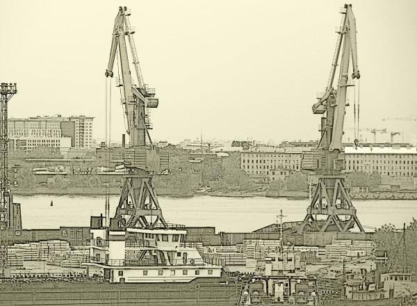 Петербургский торговый порт, август 2017 г.