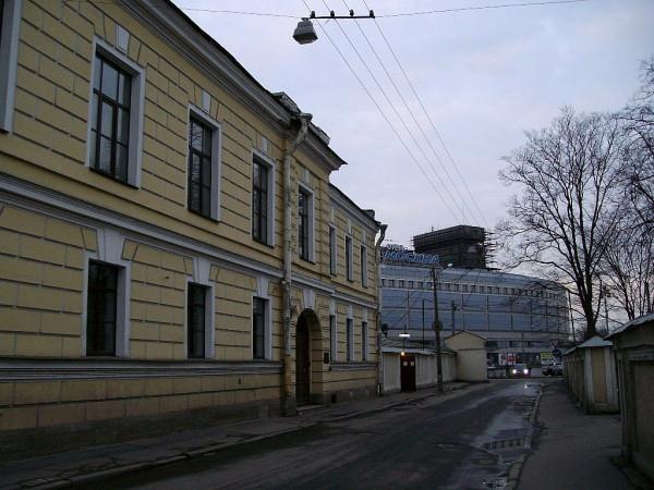 """Вид на площадь Александра Невского и гостиницу """"Москва"""" на оной площади."""