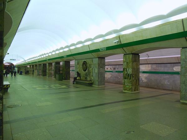 Конечная станция 3-й (Невско-Василеостровской) линии. Самая западная станция метрополитена Петербурга и всей России. Открыта в 1979 г.