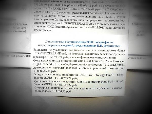 Яркий пример избирательности Центральной избирательной комиссии. 18.03.2018 г.
