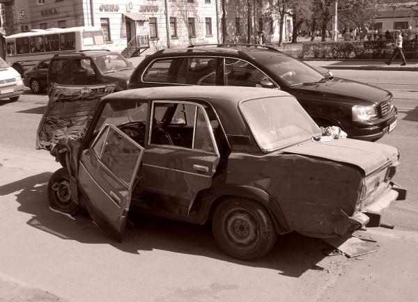 Бывший автомобиль. Апрель 2008 г.