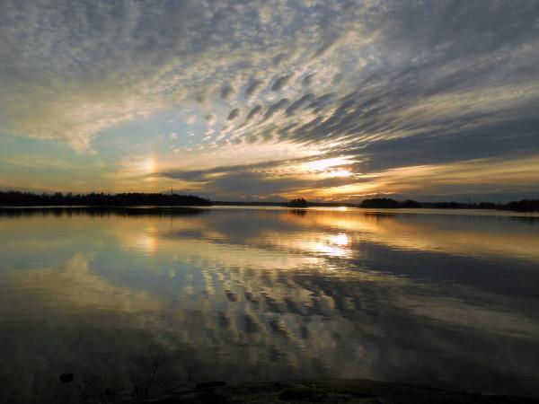 Озеро Вуокса. Апрель 2018 г.