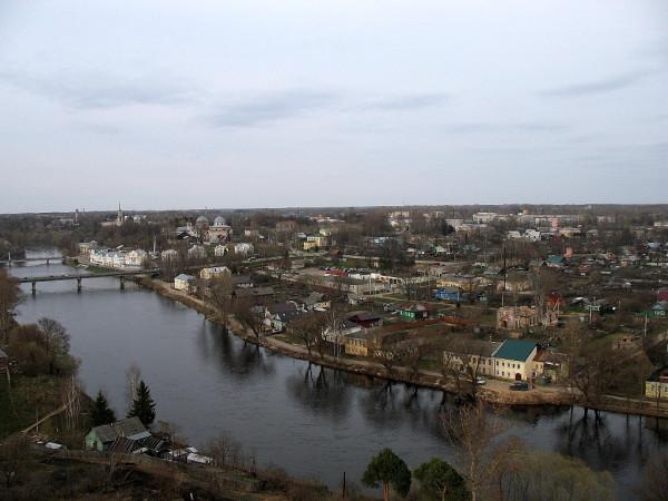 Вид на город с колокольни Борисоглебскорго монастыря. Май 2013 г.