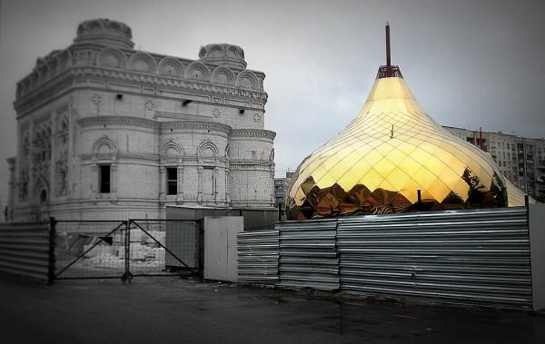 Строительство собора. Май 2013 года.