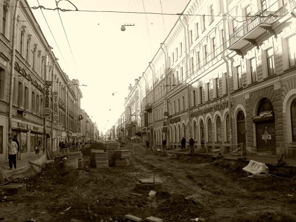 Отрезок от Садовой до Екатерининского (Грибоедова) канала. Май 2011 г.