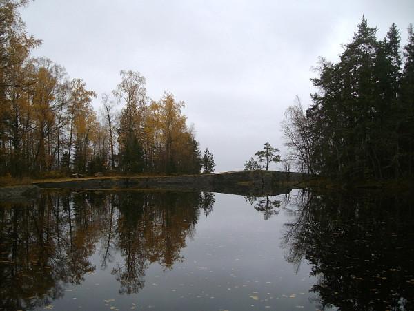 Пруд -- безымянный, залив -- Финский. мыс Бычья Голова (Häränpäänniemi), октябрь 2009 г.