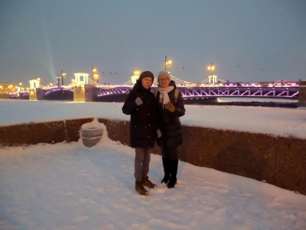 На Адмиралтейской набережной. Январь 2019 г.