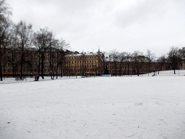 Вид на Садовую улицу и начало Екатерингофского (Римского-Корсакова) проспекта. Январь 2013 г.