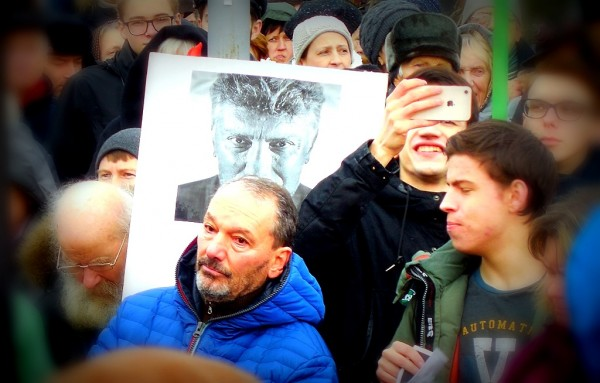 На митинге памяти Бориса Немцова. СПб., площадь Ленина, 24.02.2019 г.