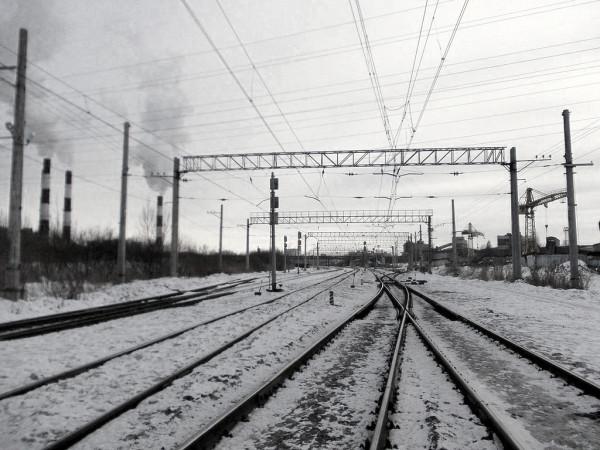 Грузовая станция Октябрьской железной дороги. Находится в Санкт-Петербурге. Март 2013 г.