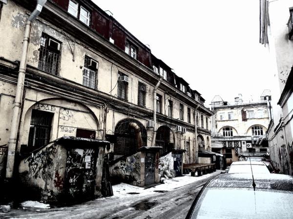 Спасский остров, между Москательным и Банковским переулками. Февраль 2015 г.