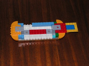 This is the top side of the Yellow Submarine at the end of Session 1.