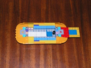 This is the top view of the Yellow Submarine after Session 2.