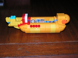 This is the side view of the Yellow Submarine at the end of Session 3.