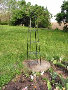 This is the plant tower on the septic cap.