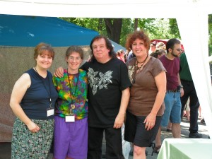 From the left are Joyce, Elizabeth, Raven, and Stephanie at the Pagan Picnic