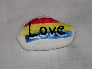 This is the top of my love rock.