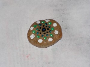 This is the top of my mandala rock.