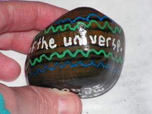 This is a side view of my universe rock.