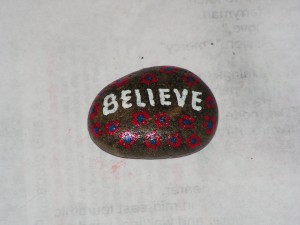 Here is the top of my believe rock.