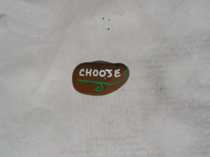 Here is the top of my choose rock.