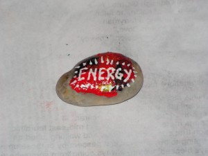 Here is the top of my energy rock.