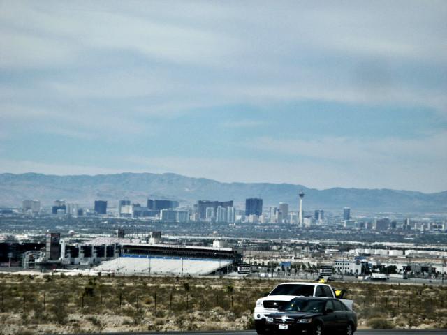 Лас-Вегас, вид сбоку.