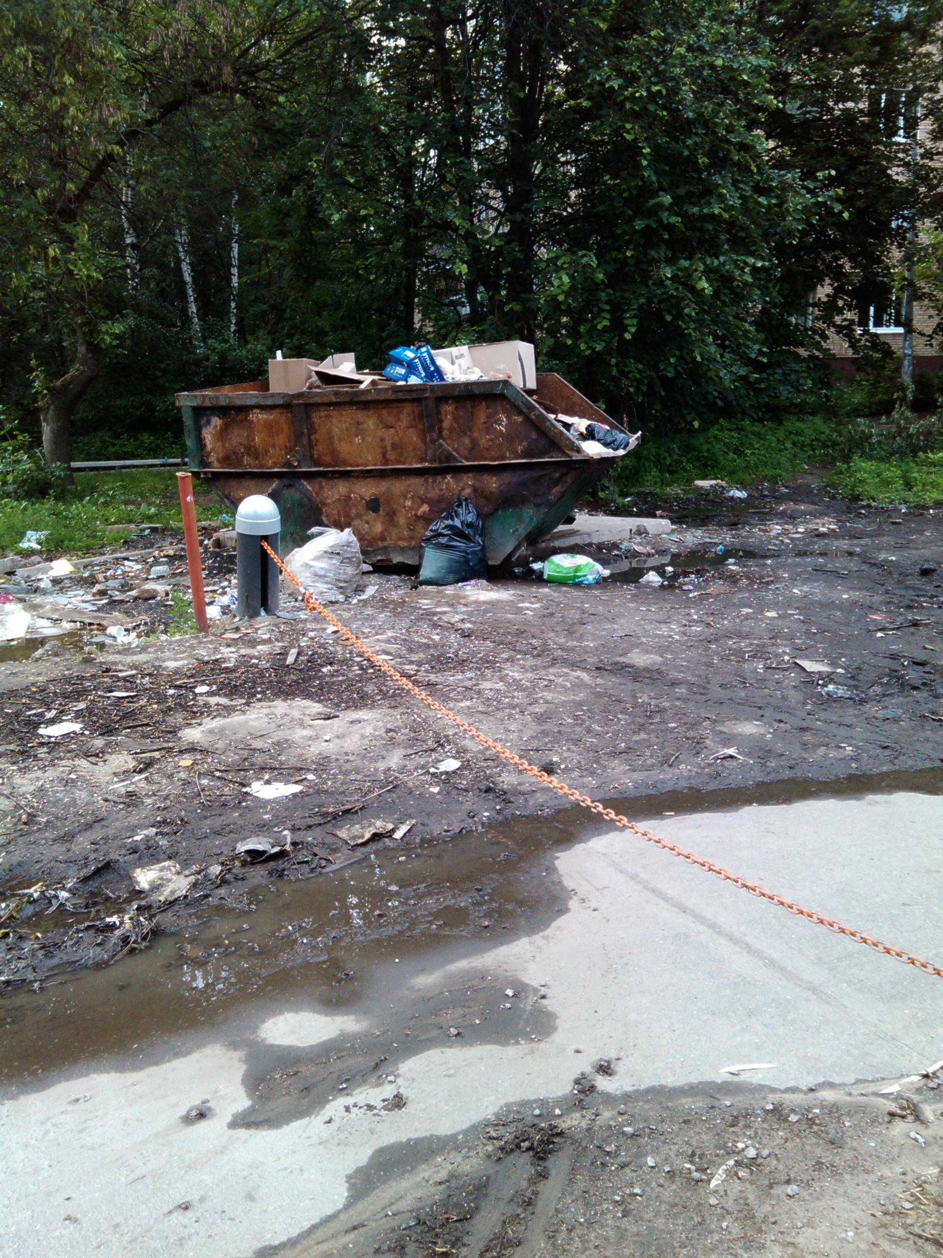 5.06.2012 я провел независимую проверку состояния площадки для сбора мусора. Полная антисанитария, вокруг контейнера