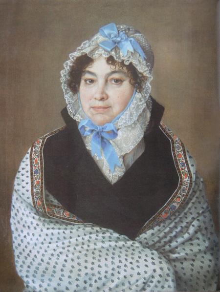 Неизвестный художник - Портрет П.М.Карцевой. 1820 - 1