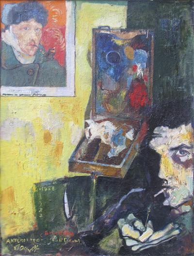 Автопортрет с Ван Гогом -3