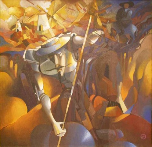 Михаил ГАРДУБЕЙ - Мой друг - Идальго» (холст, масло) 2002