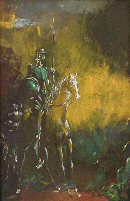 Михаил ГАРДУБЕЙ - «Дон Кихот - III» (оргалит, масло) 1985