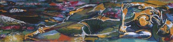 Михаил ГАРДУБЕЙ - «Дон Кихот - IV» (оргалит, масло) 1992