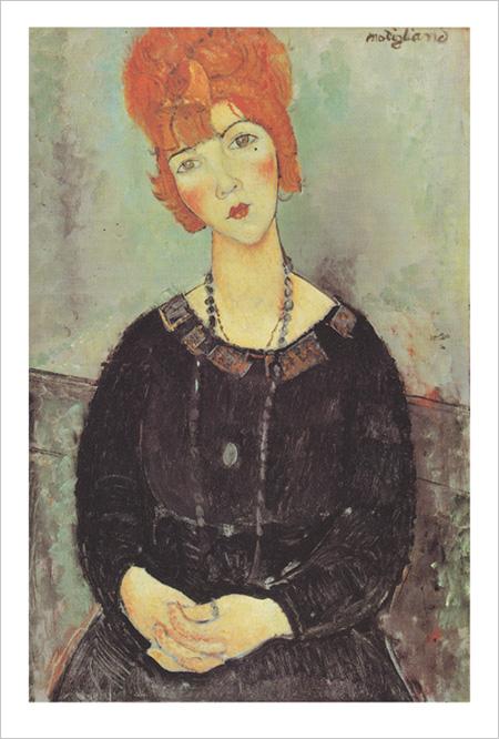 Амедео Модильяни - Девушка с ожерельем - 1917 год