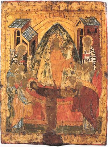 Успение Богородицы. Икона середины 15 века