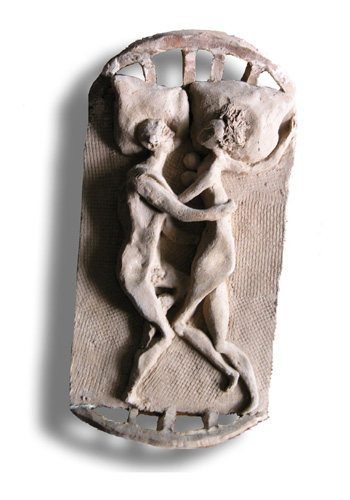 Олег Фёдоров - Утро. (двое)  - керамика. 1992 год