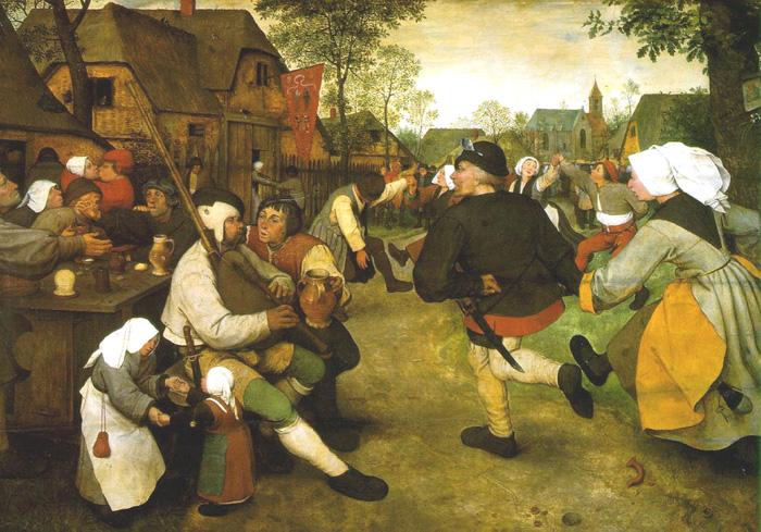 Питер Брейгель (1525-1569) - Крестьянский танец