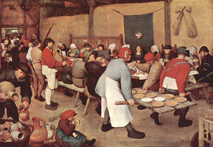 Питер Брейгель (1525-1569) - Крестьянская свадьба. 1565